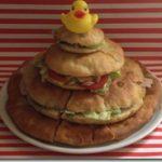 """Una torta di focacce per chi sposa la bontà: la focaccia """"frizzante"""" a piani!"""