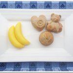 Muffin banane e miele (senza zucchero)