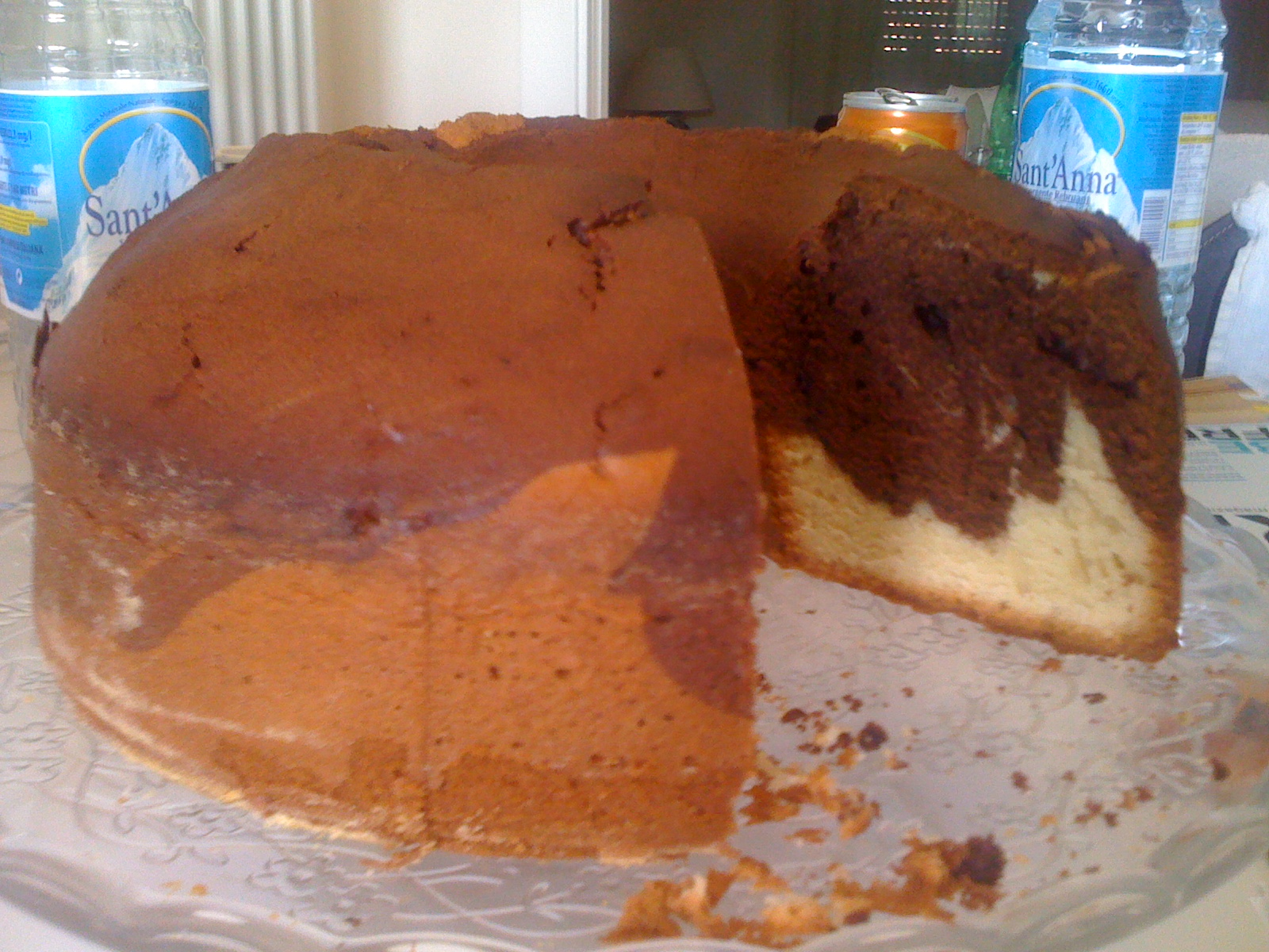Plumcake (o ciambellone ) bicolore senza burro all'olio