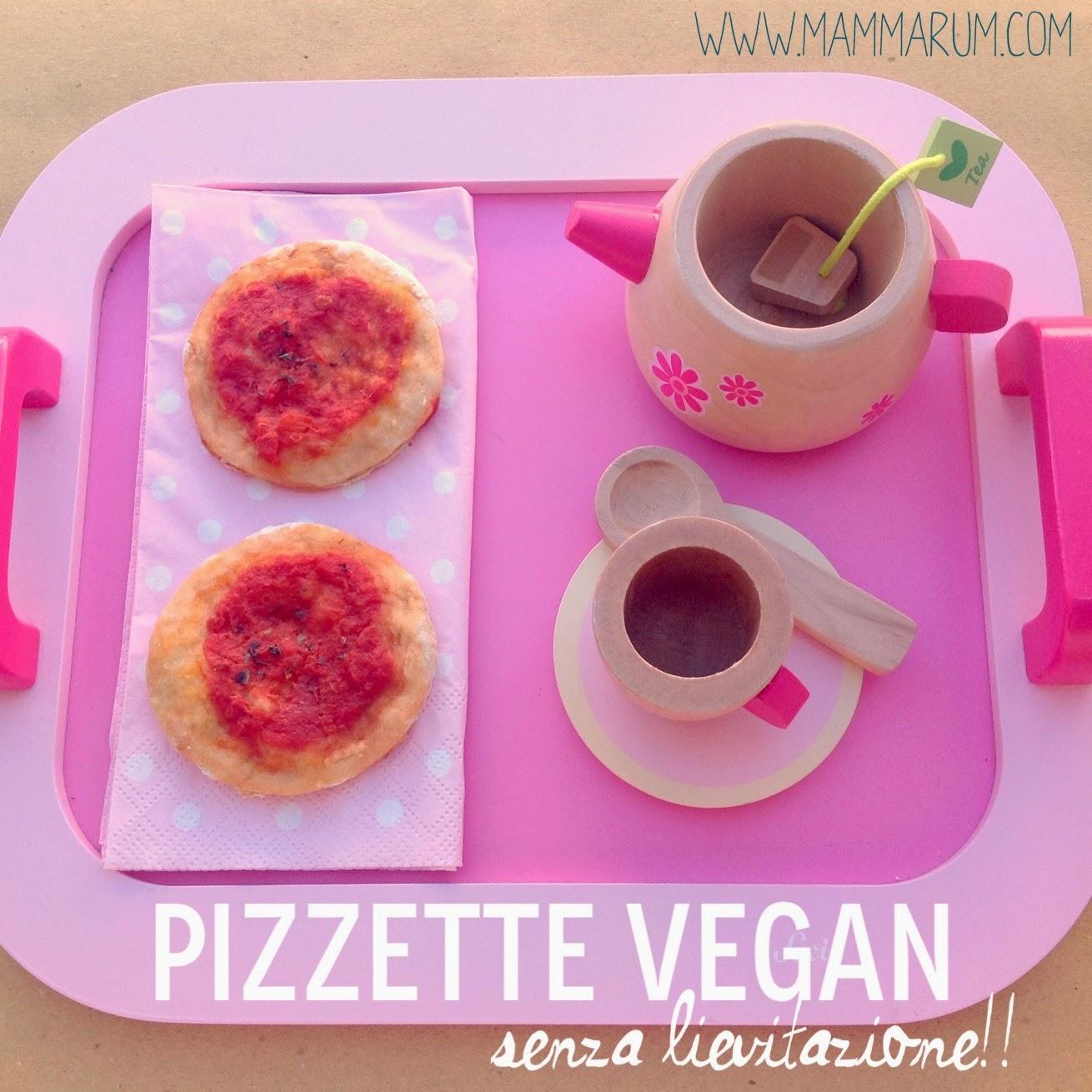 Pizzette vegane senza lievitazione per la merenda dei bambini