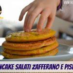 Pancake salati zafferano e piselli