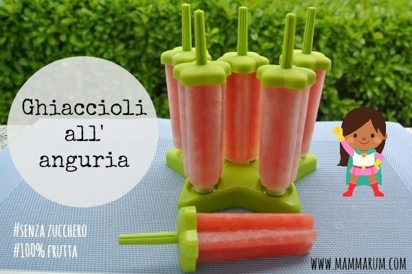 ricetta ghiaccioli all'anguria