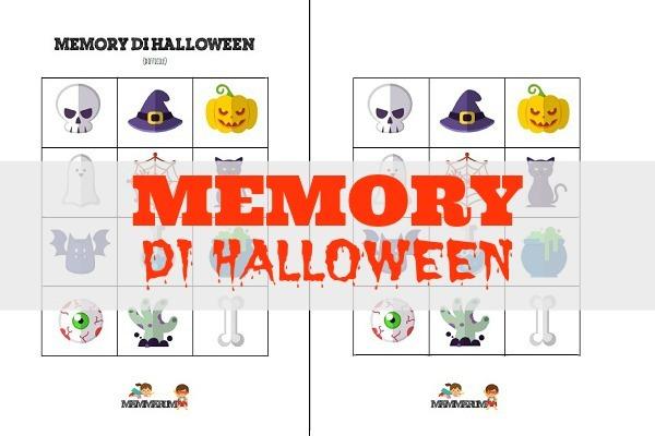 memory halloween da stampare