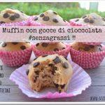 Muffin vegan con gocce di cioccolata (senza grassi)!!