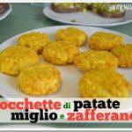Crocchette di patate, miglio e zafferano