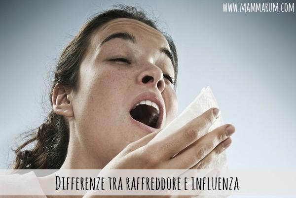 Differenze tra raffreddore e influenza