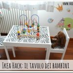 Tavolo per bambini Ikea: il restyling!