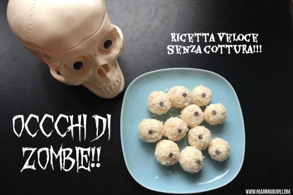 ricetta halloween bambini occhi zombie3