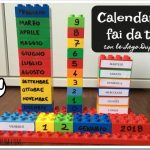 Calendario fai da te con le Lego Duplo