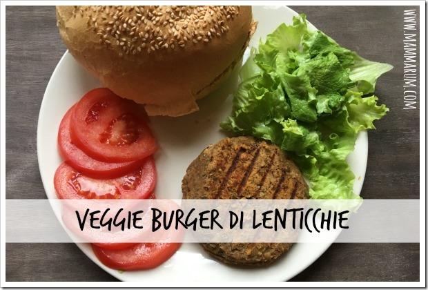 Veggyburger di lenticchie vegan