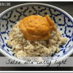 Salsa al curry light e veloce senza latte