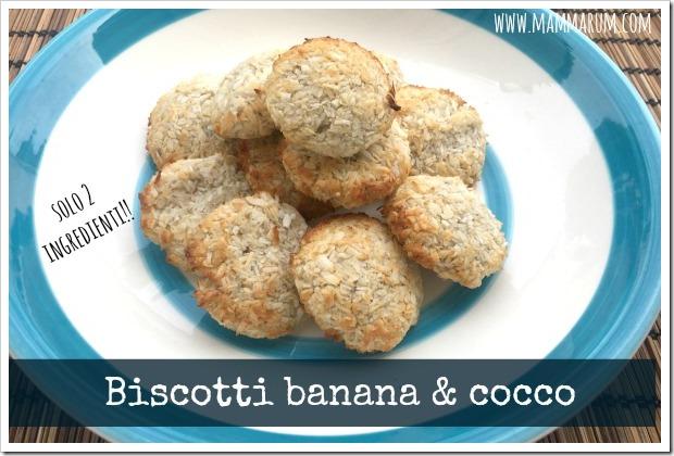 biscotti banana e cocco