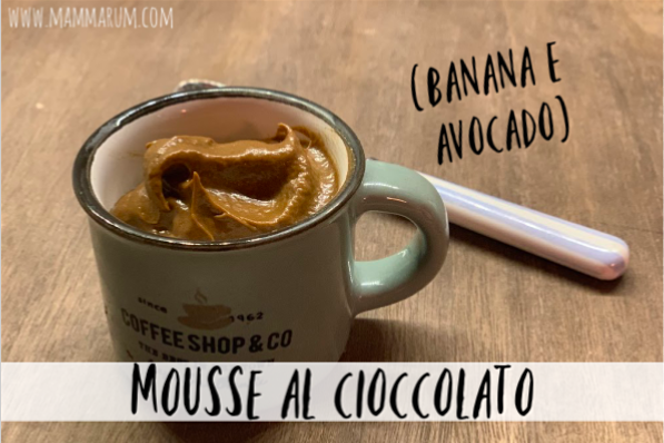 Mouse al cioccolato (banana & avocado)