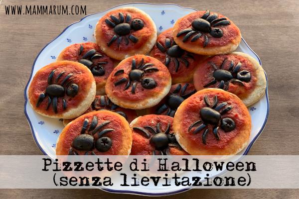Ricette di Halloween per bambini: pizzette ragno veloci (senza lievitazione)
