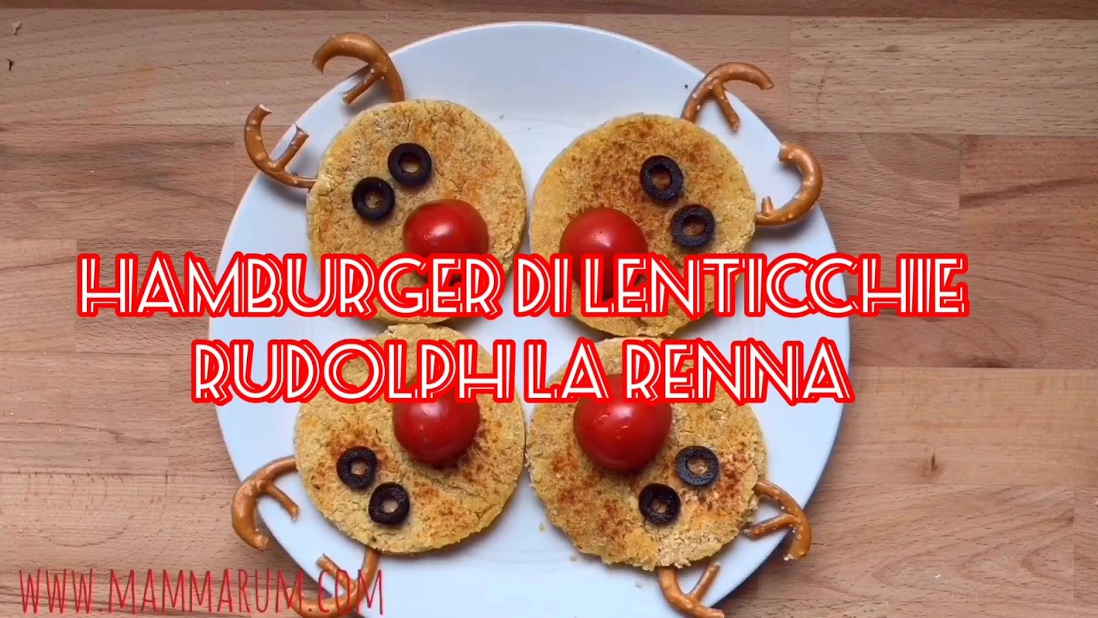 Avvento Giorno 5: Hamburger di lenticchie Rudolph la Renna