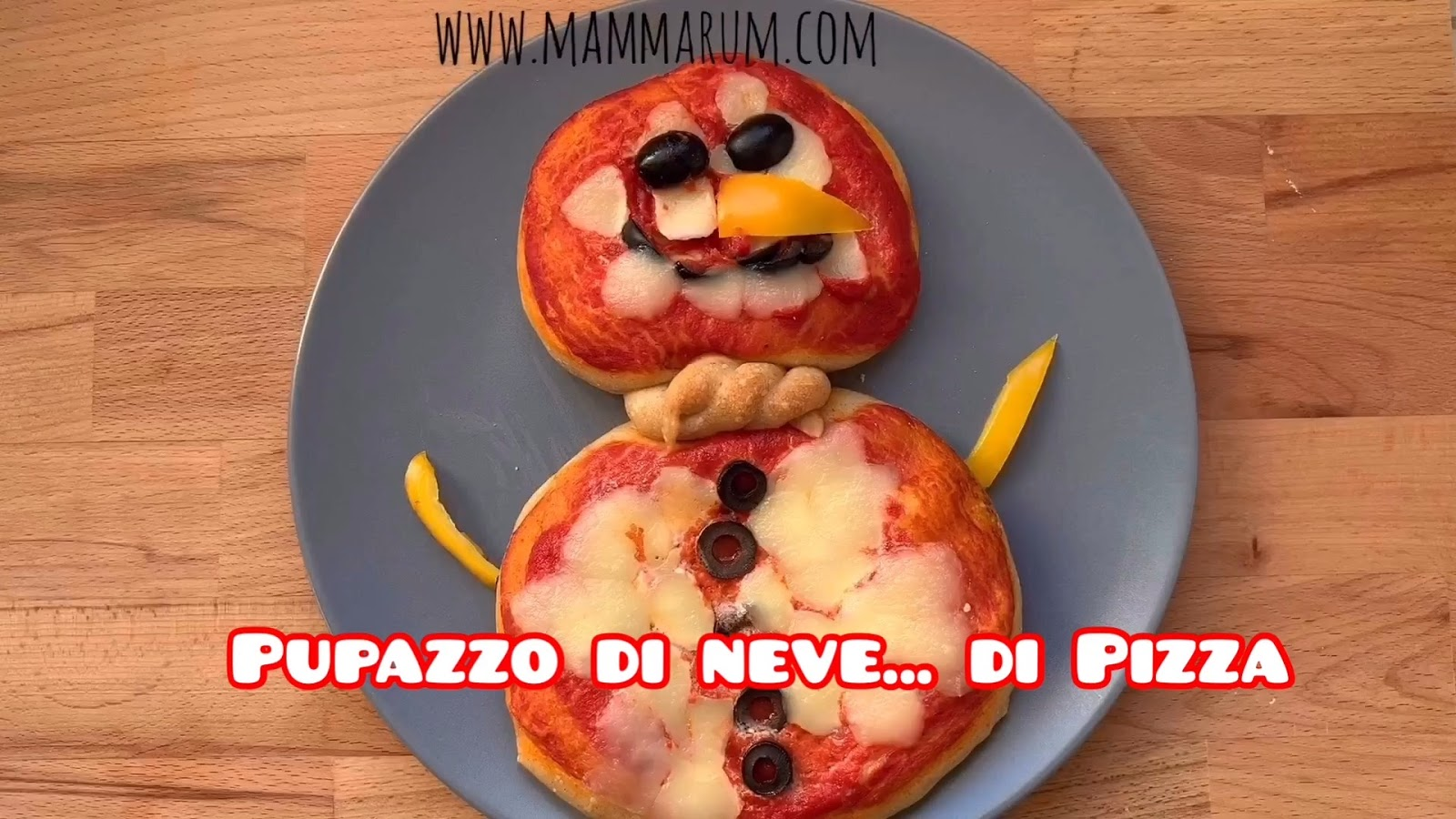 pizza pupazzo di neve natale