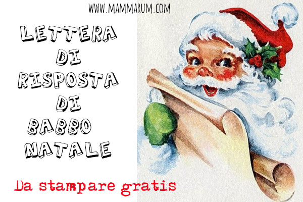 Risposta di Babbo Natale da stampare gratis