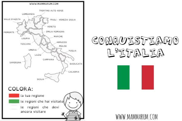 Cartina Italia Con Regioni Da Colorare.Alla Conquista Dell Italia Mammarum