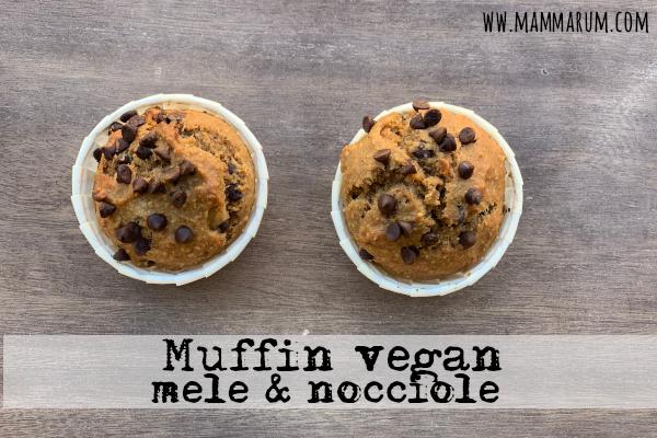 Muffin vegan mela e nocciola e cioccolato