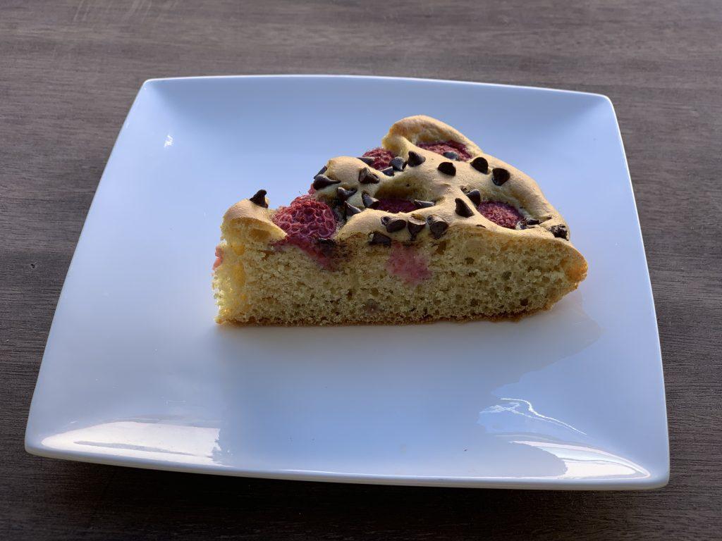 fetta torta ai lamponi
