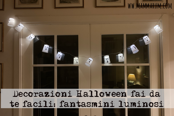 Decorazioni Halloween fantasmi luce