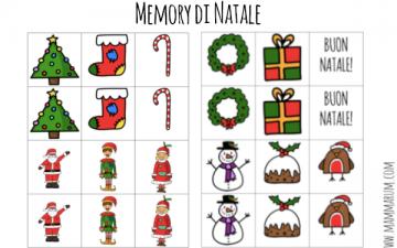 Memory di Natale per bambini da stampare
