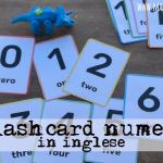 Flashcard numeri in inglese da stampare