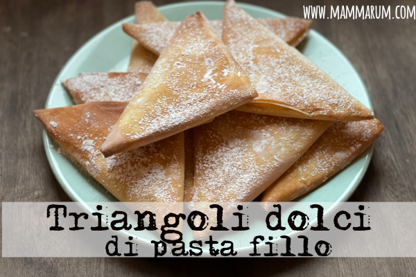 Triangoli dolci di pastafillo