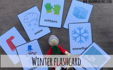 winter flashcard gratis da stampare