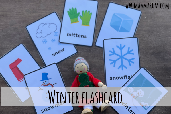 winter flashcard gratis da stampare