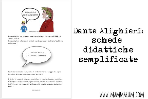 Dante schede didattiche semplificate