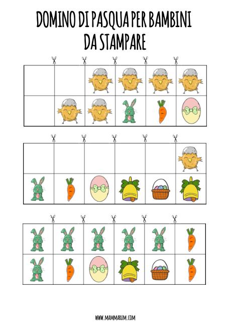 Domino di Pasqua per bambini da stampare2