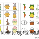 Memory di Pasqua per bambini da stampare
