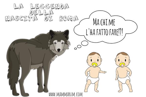 leggenda nascita di Roma per bambini