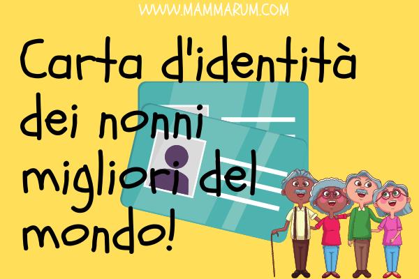 Carta identità festa dei nonni