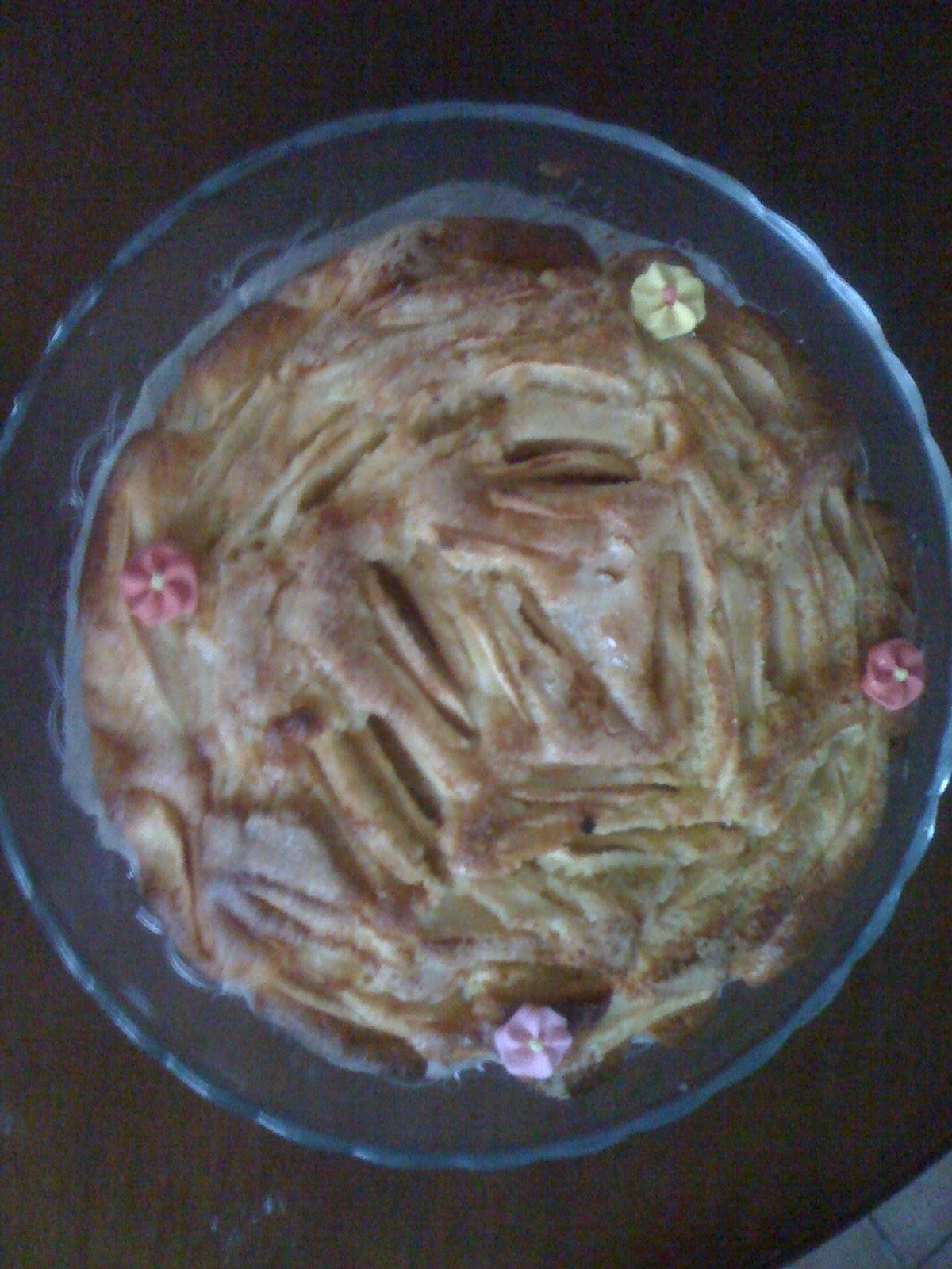 Torta di mele della mamma (senza burro, olio e latticini)