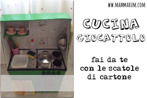 cucina giocattolo fai da te con le scatole di cartone
