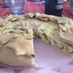 Torta salata ricotta e zucchine senza pasta sfoglia