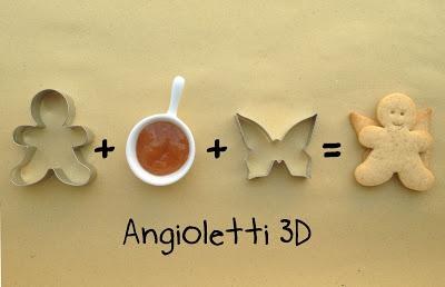 Biscotti di Natale per bambini: angioletti 3D