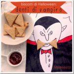 Biscotti di Halloween per bambini: denti di vampiro
