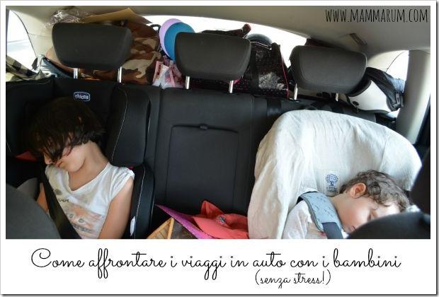 trucchi per viaggiare in auto con i bambini