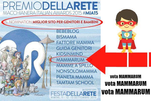 Vota Mammarum tra i finalisti del premio della rete!