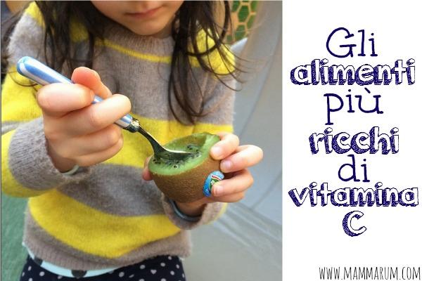 Gli alimenti per bambini più ricchi di vitamina C
