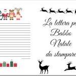 Lettera Babbo Natale da stampare gratis