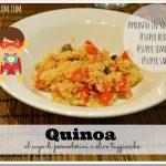 Quinoa al sugo di pomodorini e olive taggiasche