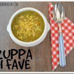 Zuppa di fave e miglio anti stanchezza