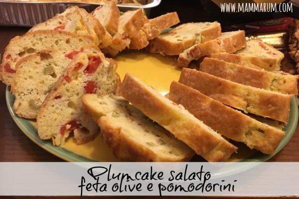 Plumcake salato feta, olive e pomodorini