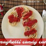 Spaghetti candy cane