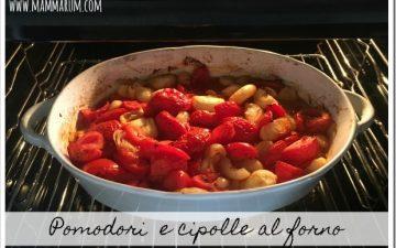 Pomodori e cipolle al forno