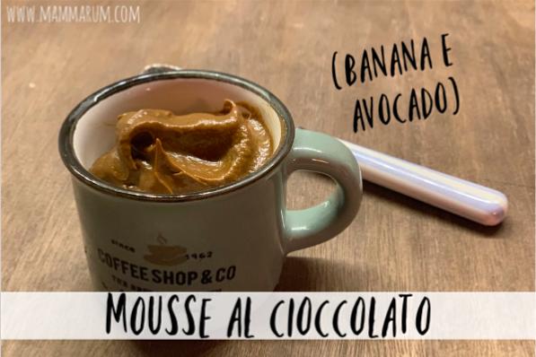 Mouse al cioccolato (banana & avocado)